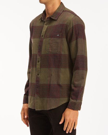 1 Coastline Flannel Shirt Green ABYWT00116 Billabong