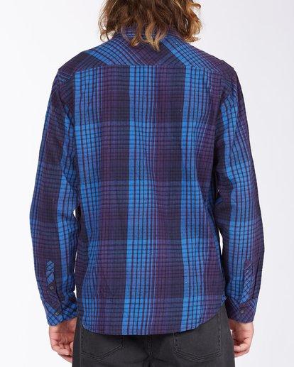 3 Coastline Flannel Shirt Blue ABYWT00116 Billabong