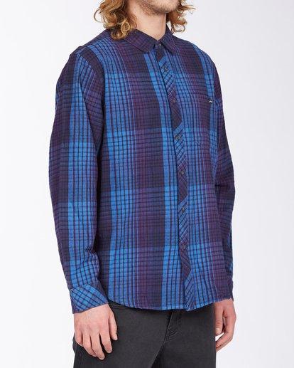 2 Coastline Flannel Shirt Blue ABYWT00116 Billabong