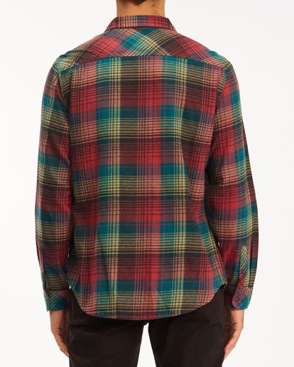 2 Coastline Flannel Shirt Red ABYWT00116 Billabong