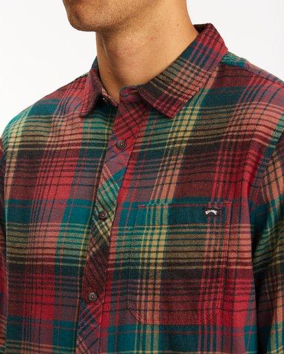 3 Coastline Flannel Shirt Red ABYWT00116 Billabong