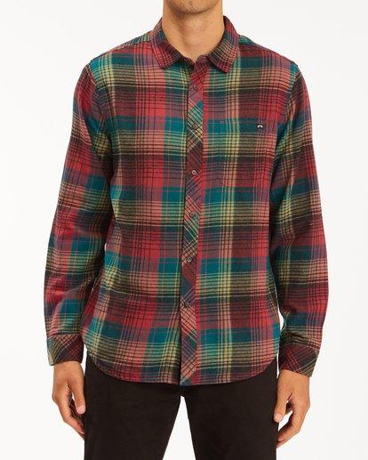 0 Coastline Flannel Shirt Red ABYWT00116 Billabong