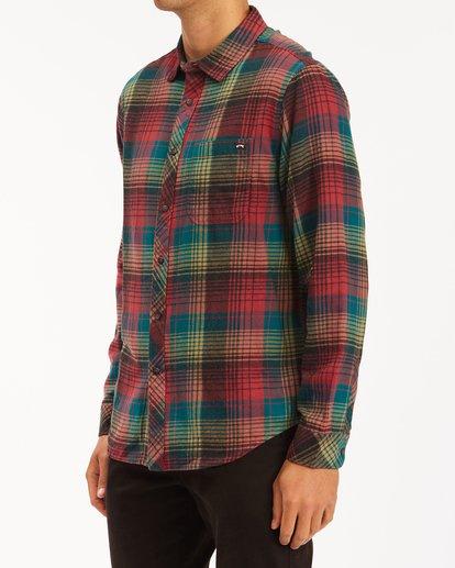 1 Coastline Flannel Shirt Red ABYWT00116 Billabong