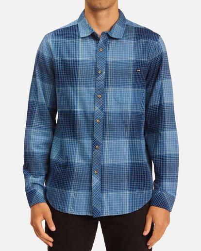 0 Coastline Flannel Shirt Blue ABYWT00116 Billabong