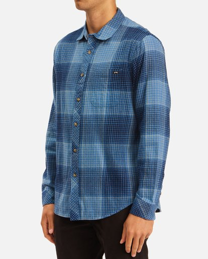 1 Coastline Flannel Shirt Blue ABYWT00116 Billabong