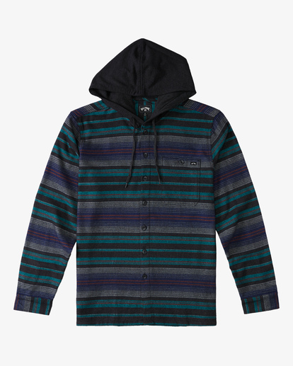 5 Baja Hooded Flannel Black ABYWT00117 Billabong