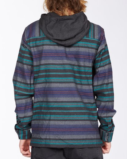 2 Baja Hooded Flannel Black ABYWT00117 Billabong