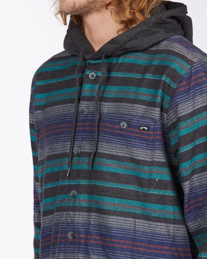 3 Baja Hooded Flannel Black ABYWT00117 Billabong