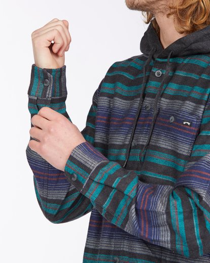 4 Baja Hooded Flannel Black ABYWT00117 Billabong