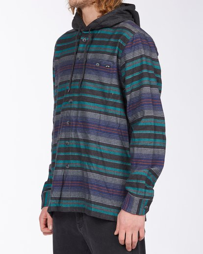 1 Baja Hooded Flannel Black ABYWT00117 Billabong