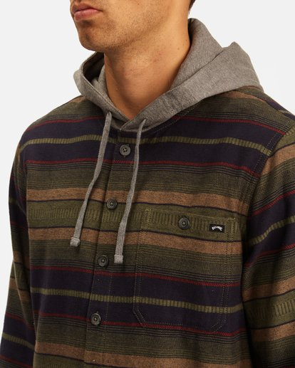 3 Baja Hooded Flannel Multicolor ABYWT00117 Billabong