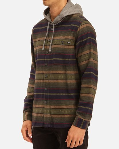 1 Baja Hooded Flannel Multicolor ABYWT00117 Billabong