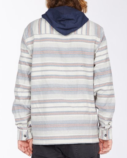 2 Baja Hooded Flannel Beige ABYWT00117 Billabong