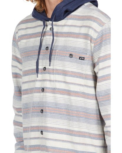 3 Baja Hooded Flannel Beige ABYWT00117 Billabong