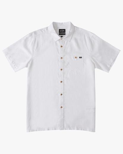 4 A/Div Kern Hemp Short Sleeve Shirt White ABYWT00118 Billabong