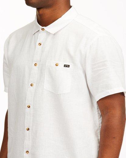 3 A/Div Kern Hemp Short Sleeve Shirt White ABYWT00118 Billabong