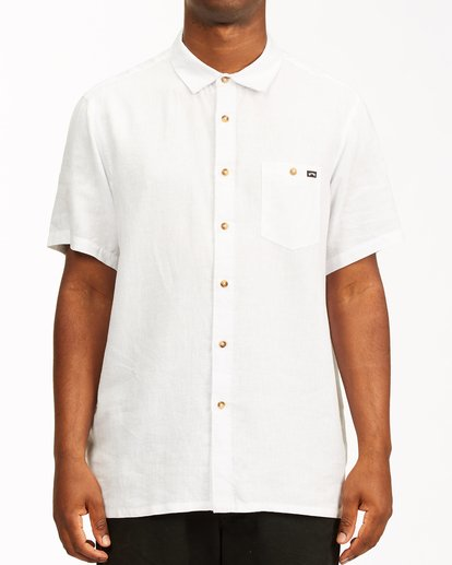 0 A/Div Kern Hemp Short Sleeve Shirt White ABYWT00118 Billabong