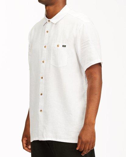 1 A/Div Kern Hemp Short Sleeve Shirt White ABYWT00118 Billabong