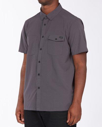 1 A/Div Surftrek Short Sleeve Shirt Black ABYWT00121 Billabong