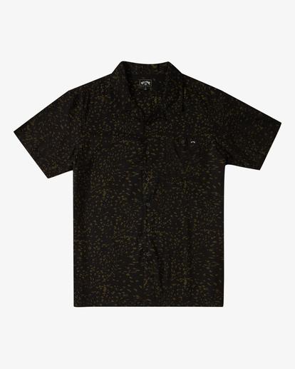 4 Sundays Vacay Short Sleeve Shirt Black ABYWT00122 Billabong