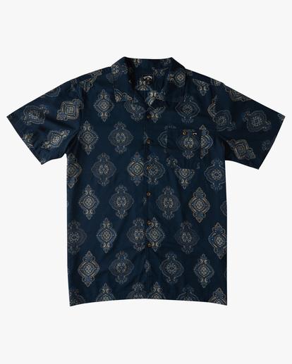 4 Sundays Vacay Short Sleeve Shirt Blue ABYWT00122 Billabong