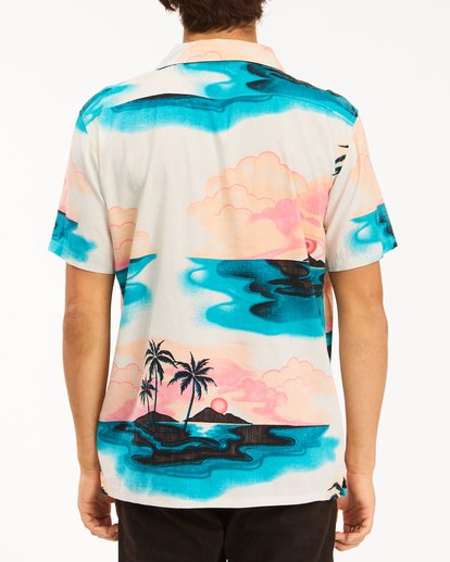 2 Sundays Vacay Short Sleeve Shirt Blue ABYWT00122 Billabong