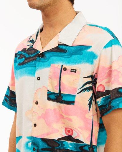 3 Sundays Vacay Short Sleeve Shirt Blue ABYWT00122 Billabong