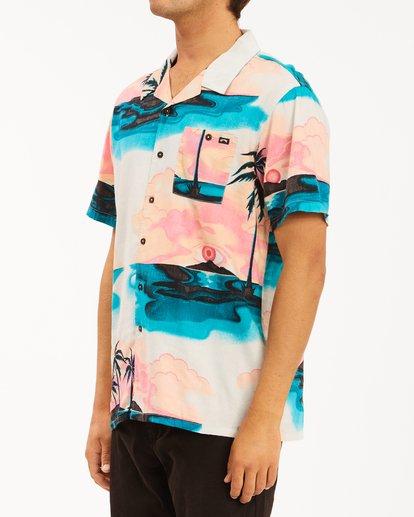 1 Sundays Vacay Short Sleeve Shirt Blue ABYWT00122 Billabong