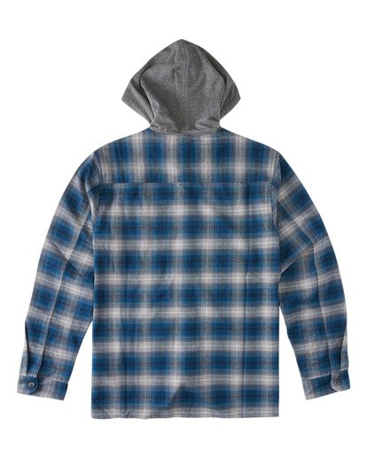 1 Baja Flannel Shirt Blue ABYWT00127 Billabong