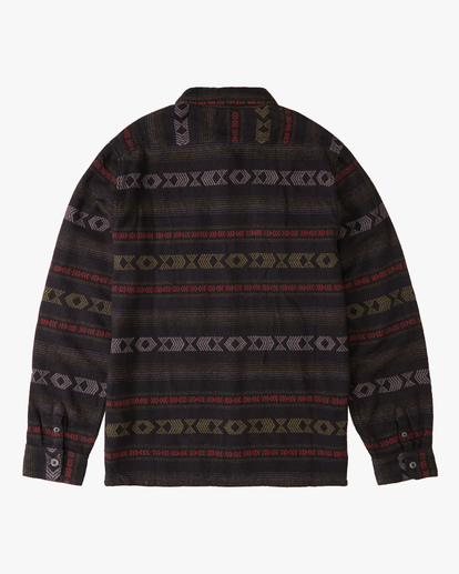 5 Offshore Jacquard Flannel Shirt Black ABYWT00135 Billabong