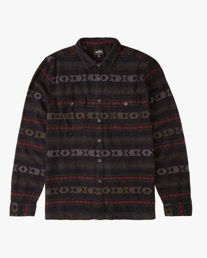 4 Offshore Jacquard Flannel Shirt Black ABYWT00135 Billabong