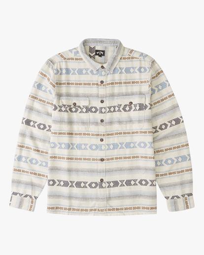 4 Offshore Jacquard Flannel Shirt Beige ABYWT00135 Billabong