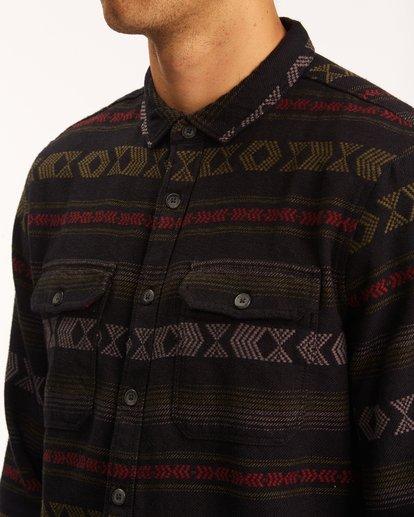 3 Offshore Jacquard Flannel Shirt Black ABYWT00135 Billabong