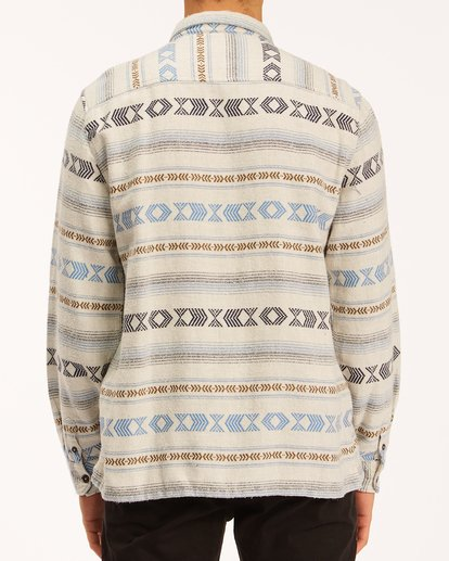 2 Offshore Jacquard Flannel Shirt Beige ABYWT00135 Billabong