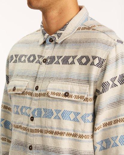 3 Offshore Jacquard Flannel Shirt Beige ABYWT00135 Billabong