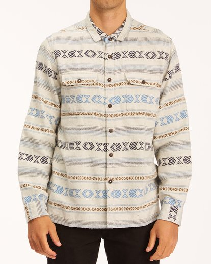 0 Offshore Jacquard Flannel Shirt Beige ABYWT00135 Billabong