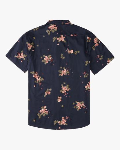 6 Wrangler Rose Garden Short Sleeve Shirt Blue ABYWT00136 Billabong