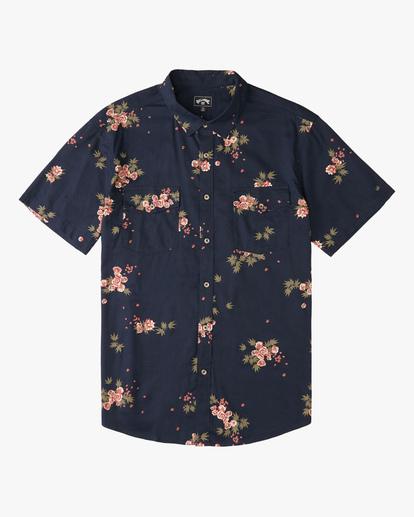 5 Wrangler Rose Garden Short Sleeve Shirt Blue ABYWT00136 Billabong