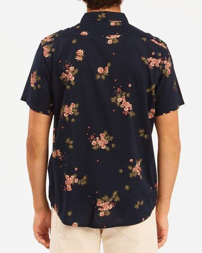 3 Wrangler Rose Garden Short Sleeve Shirt Blue ABYWT00136 Billabong