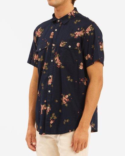 2 Wrangler Rose Garden Short Sleeve Shirt Blue ABYWT00136 Billabong