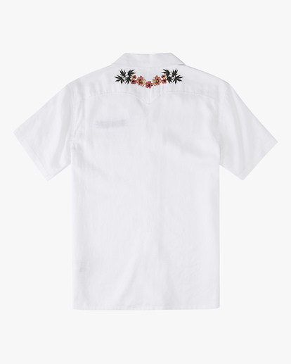 8 Wrangler Dakota Hemp Vacay Short Sleeve Shirt White ABYWT00137 Billabong