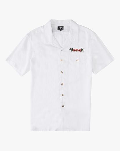 7 Wrangler Dakota Hemp Vacay Short Sleeve Shirt White ABYWT00137 Billabong