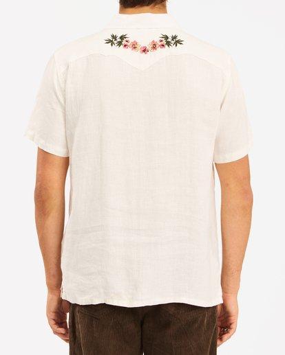 4 Wrangler Dakota Hemp Vacay Short Sleeve Shirt White ABYWT00137 Billabong