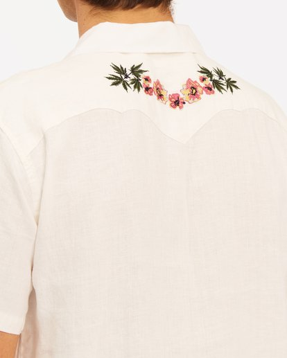 5 Wrangler Dakota Hemp Vacay Short Sleeve Shirt White ABYWT00137 Billabong