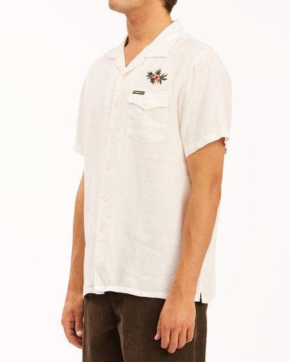 3 Wrangler Dakota Hemp Vacay Short Sleeve Shirt White ABYWT00137 Billabong