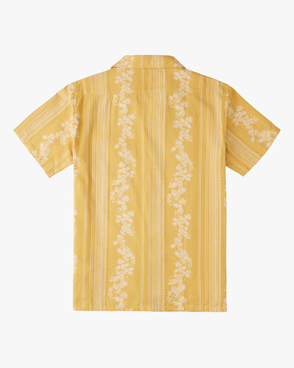 7 Wrangler Other Side Vacay Short Sleeve Shirt Yellow ABYWT00138 Billabong