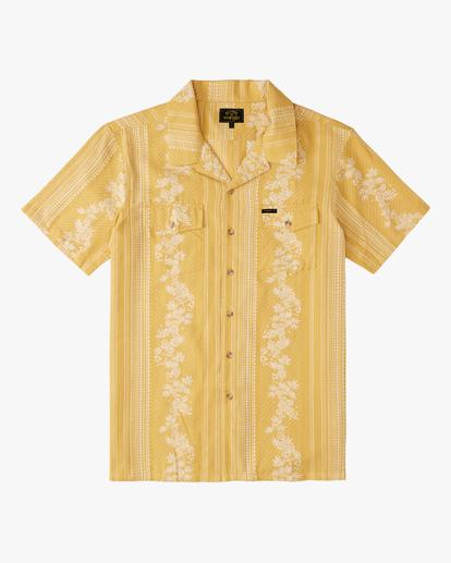 6 Wrangler Other Side Vacay Short Sleeve Shirt Yellow ABYWT00138 Billabong