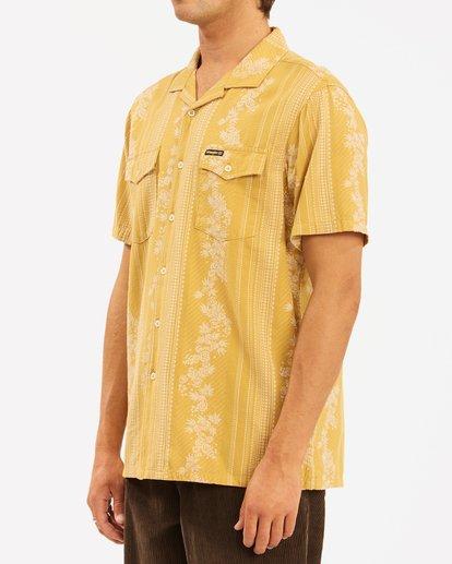 3 Wrangler Other Side Vacay Short Sleeve Shirt Yellow ABYWT00138 Billabong