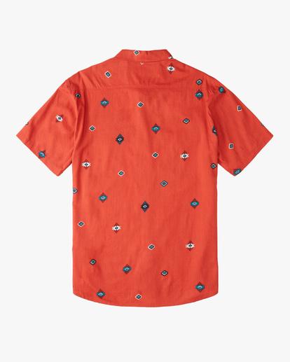 5 Wrangler Distant Land Short Sleeve Shirt Red ABYWT00139 Billabong