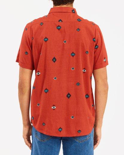 2 Wrangler Distant Land Short Sleeve Shirt Red ABYWT00139 Billabong